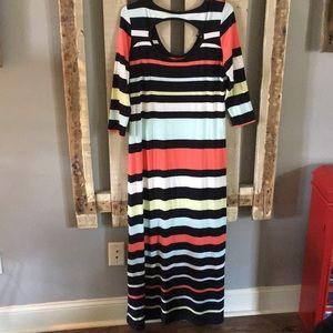Jessica Simpson maxi striped dress